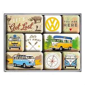 Volkswagen Lets Get Lost set of 9 mini fridge magnets in box (na)